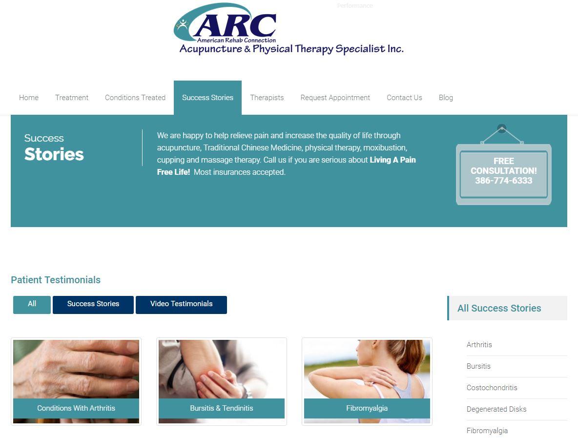 ARC Acupuncture Testimonials, Daytona Beach ARC Acupuncture, Lake Mary ARC Acupuncture, Deland ARC Acupuncture, Mount Dora ARC Acupuncture, Port Orange ARC Acupuncture